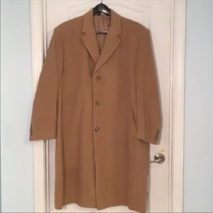 Jos A. Bank brown camel hair men's coat Size 46R